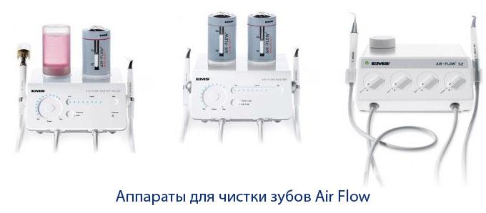 аппараты для чистки зубов Air Flow